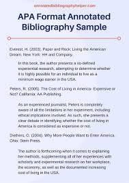 APA Format annotated bibliography sample that can help you     Pinterest