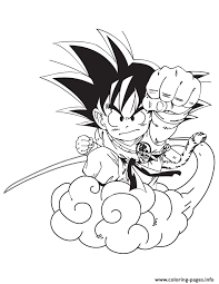 Small Picture cartoon dragon ball goku coloring page Coloring pages Printable