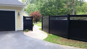 black vinyl fence panels. Plain Panels Black Privacy Fence  On Black Vinyl Fence Panels C