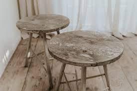quirky oak side tables bie baert