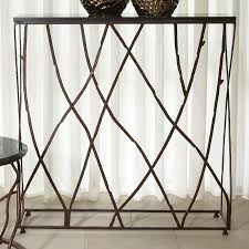 iron console table. Iron Branch Slim Console Table