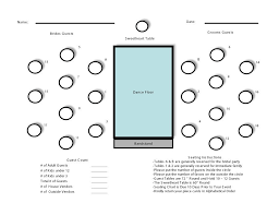 free seating chart template 01