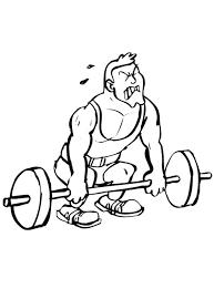Kleurplaat Bodybuilder Is Aan Het Gewichtsheffen Kleurplaatjecom