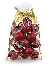 20 Stk Christbaumkugeln 6cm Kuststoff Bordeaux Pvc Weihnachtskugeln Baumschmuck Dekor Motive Plastik Christbaumschmuck Mix Set Weihnachten