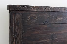 reclaimed wood headboard cal king