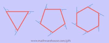 exterior angle formula for polygons. exterior angles of polygon gif angle formula for polygons