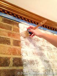 how to clean the inside of a brick fireplace how to whitewash brick with chalk type