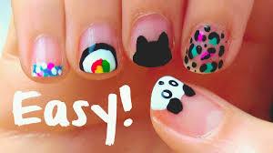 Easy Nail Polish Designs Tutorial Easy Short Nail Art Designs With Tutorial Video