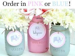 pink and gray baby shower mason jar centerpieces for girl baby shower baby shower decorations baby shower decor pink and grey elephant baby mine pink and