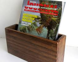 Magazine Rack - Wall Mounted Magazine Holder - wooden magazine holder