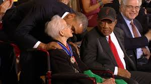 Katherine Johnson awarded Presidential Medal of Freedom in 2015 Video - ABC  News