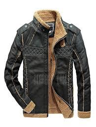 joobox warm outdoor winter leather jacket 62 55 free gearbest com