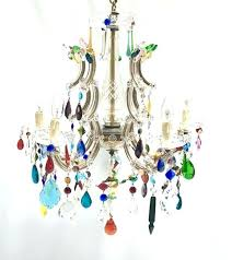 colored crystal chandelier colored l chandelier colorful chandeliers charming multi colored crystal chandelier drops