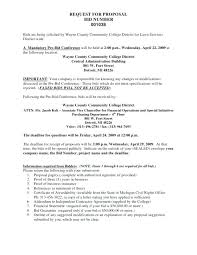 Request For Proposal Cover Letter Bid Proposal Cover Letter Proposal ...