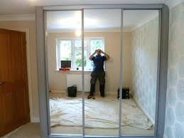 sliding closet door mirror medium size of how to cover mirrored doors with fabric replacement pa