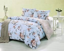 kath cath vintage country shabby chic light blue rose flowers duvet cover set 100 cotton reverse bedding elegant yellow fl print king