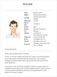 Simple Resume Sample Sample Simple Resume Template Free Download