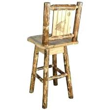 rustic wood bar stools laser engraved wolf motif swivel bar stool rustic wood bar stools rustic