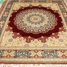mingxin 8x10 feet red big sunflower persian rug exquisite double knots hand weave knotted silk carpet for home area carpet afghan rugs aladdin carpet from