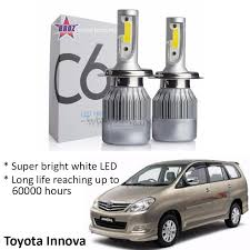 toyota innova old head lamp c6 led light car auto head light 6500k