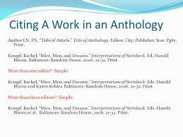 Mla Citation Essay Mla Citation Essay Within Anthology Mla Citation Essay