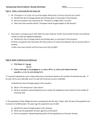 solving linear word problems review