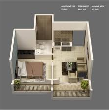 Single Bedroom 1 Bedroom Apartment House Plans