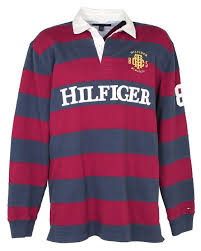 red striped rugby shirt xl image