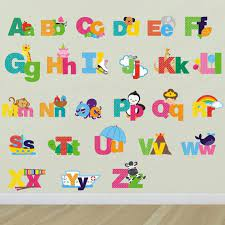 picture alphabet wall decals letters