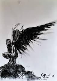 Angel Sketch Angel Study 2 Charcoal Drawing