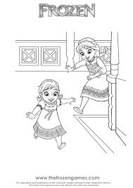 Small Picture Young Anna and Elsa Together Coloring Frozen Games