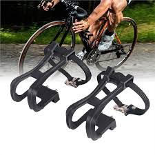 1 Pair of Durable <b>Creative</b> Black <b>Cycling</b> Nylon Clip Strap <b>Belt</b> ...