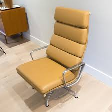 eames soft pad lounge chair. Herman Miller Eames Soft Pad Lounge Chair (Camel Leather)