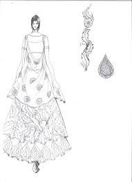 Saree Blouse Design Sketches Hand Sketch Illustration By Shashi Kumar At Coroflot Com