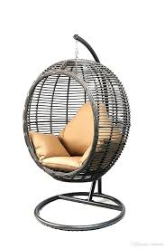 2018 love chair oval egg hanging patio lounge chair chaise porch swing hammock single seat stand wicker with cushion couple for from