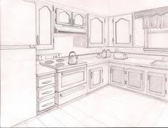 Interesting Kitchen Drawing Perspective Ideas Architectural Drawings 2 Point For Perfect Design