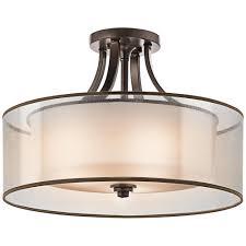 bronze drum pendant lighting
