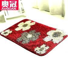 red bathroom rug rugs bath mat sets