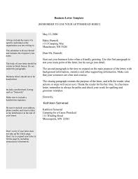 Business Letter Template Free Best Template Examples