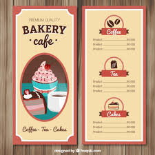 Hand Drawn Cafe Menu Template Vector Free Download