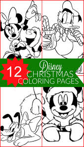 12 Free Disney Christmas Printable Coloring