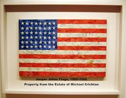 jasper johns flag sold for record 28 6 million