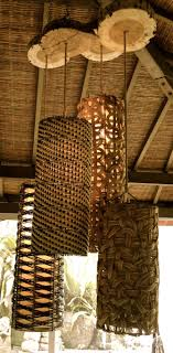 look at the sliced wood pieces at the top of these reed lamps lovely accent artistic wood pieces design