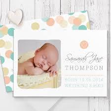 Printed Birth Announcement Stunning Colourful Confetti Dots Baby Photo Birth Announcement
