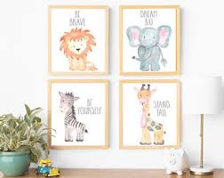 gender neutral nursery decor kids room decor kids wall art animal nursery art baby animal nursery art cute nursery decor nursery animal art on cute nursery wall art with kids wall art etsy