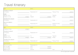 Vacation Itinerary Template Travel Itinerary Example Travel Planner