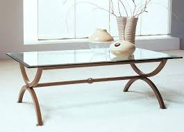 table wrought iron coffee table glass round metal frame