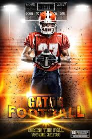 Player Banner Photo Template Impact Football Player Team