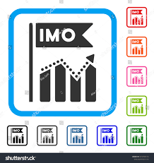 Imo Chart Trend Icon Flat Gray Stock Vector Royalty Free