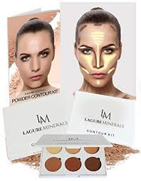 amazon re minerals powder contour kit premium bronzer and contour palette for flawless highlighting and contouring step by step contour guide